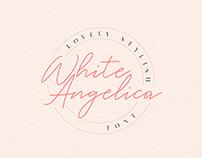 White Angelica - 100% Free script font
