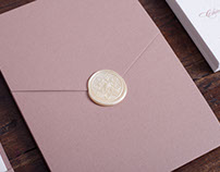 LETTERPRESS WEDDING INVITATION + SEALWAX