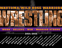 Wautoma Wrestling '14-'15 Schedule Poster