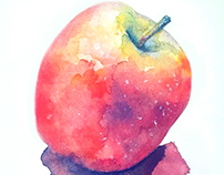 Apple - Watercolor