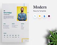 3 Page Modern CV/Resume Template