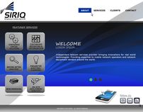 Telecommunications Service Provider Web Design Template