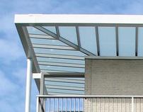 Nieuwe Overkapping en Kleuradvies drie flats Waterwijk