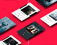 MUSIC APP SCREENS - APP DESIGN UI/UX