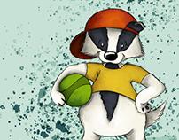 doodleart | trendy badger