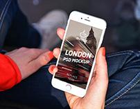 """iPhone 6 Mockup in London """"B"""""""
