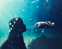 PHOTOSHOP - DREAMS OF MAGICAL FISH