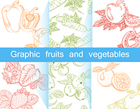 Graphic fruits and vegetables