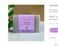 Handmade soap e-commerce shop