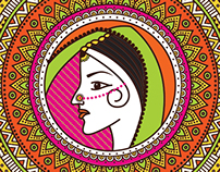 Henna Art Style Wedding Invitation