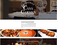 Landing Page Design Casa Carmen Barcelona Restaurant