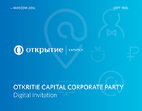 OTKRITIE Capital Corporate Party Digital invitation