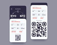 Boarding Pass App Design