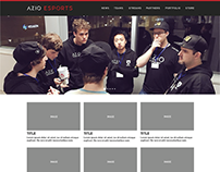 AZIO Esports Website Design