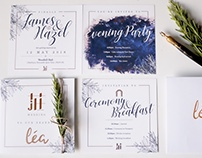 Modern Garden Themed Wedding Invitation