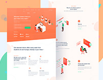 Student Education Landing Page- UI/UX Design