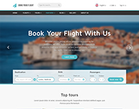 Book Your Flight - Booking Template