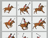 Polo Team graphic design vector art