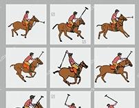 Polo Team graphic design vector art