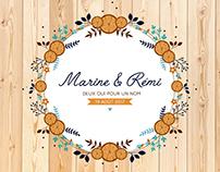 Marine et Rémi (Faire-part de mariage)