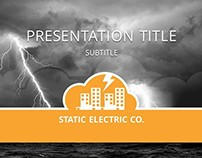 "Concept Logo and Template ""Static Electric CO."""