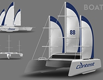 Сruising sailing yacht sketch