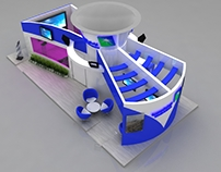 Aramco booth 8 x 4 m