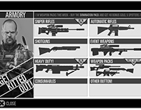 Sniper X - Wireframes. MobileiOS/Android.