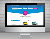 Rent a car startup website