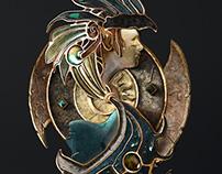 Baldur's Gate 2 3D logo sculpt