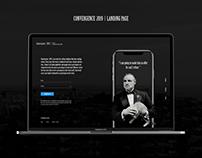 UI design - convergence 2019 landing page