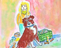 Lina und Therapiehund Hubertus
