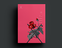 Poster by Xavier Esclusa Trias / EM / Red Flowers