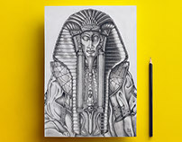 Ra from Stargate | pencil drawing | 2011