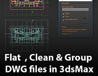 How to Flat, Clean and Group DWG files in 3dsMax