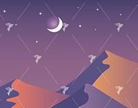 Desert Sunset Illustration