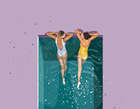 Gossip girls | illustration set
