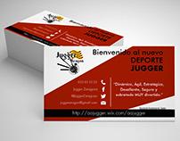 Tarjeta de visita Asociación Aragonesa de Jugge