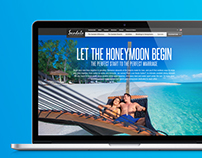 Honeymoon section of Sandals Resorts website