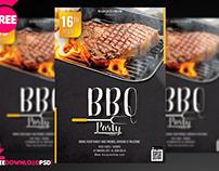BBQ Party Flyer + Social Media Post