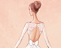 Wedding dresses - illustrations