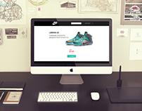 Nike LeBron XII - Landing page
