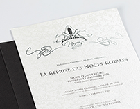 Creative invitation card design - Noces Royales