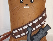 Handmade Star Wars Chewbacca w/ Bowcaster v1.43 Pillow