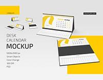 Desk Calendar v07 Mockup Set