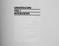 UNDERSCORE VOL.1 ZINE