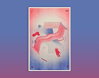 Double Decker Risograph Poster
