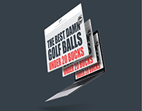 Cut Golf Web Design