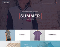 Free clothing fashion website design