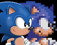 Sonic 3 Standing Sprite HD Remaster